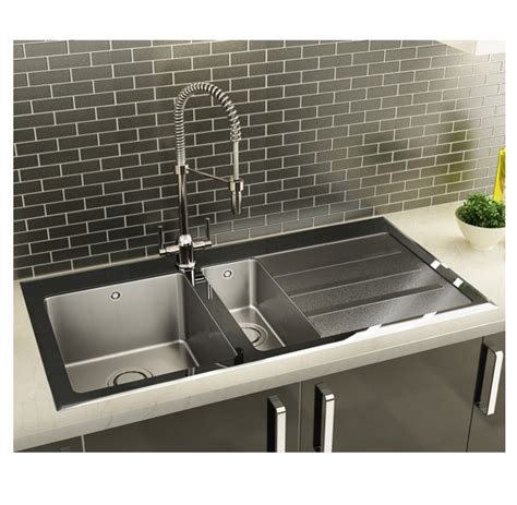 glass kitchen sink carron phoenix silhouette 150 stainless steel sink with