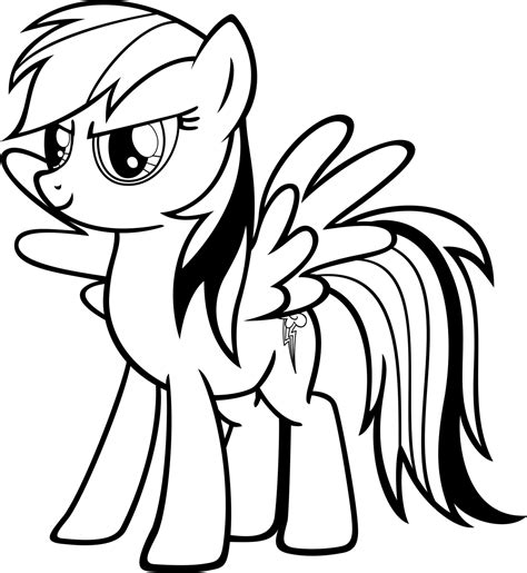 Rainbow Dash Coloring Pages Best Coloring Pages For Kids Colouring Pages Free