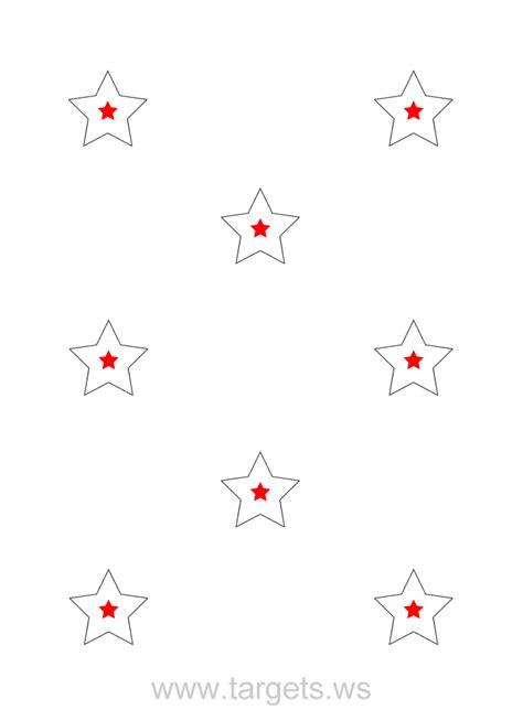 printable star targets targets print your own star shooting targets