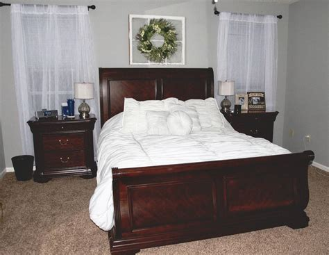 cherry oak bedroom set best cherry oak sleigh bedroom set for sale in jefferson