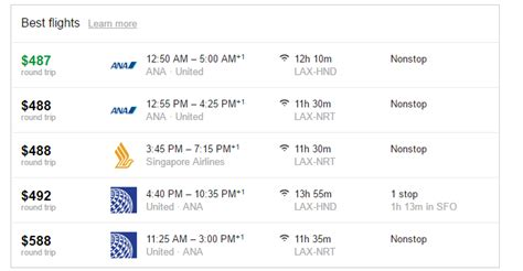 airfare deal los angeles to tokyo as low as 450 roundtrip