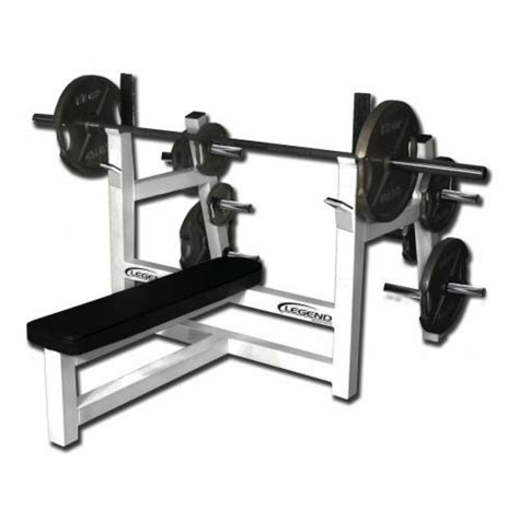 olympic flat bench fitness legend fitness olympic flat bench w plate storage 3150
