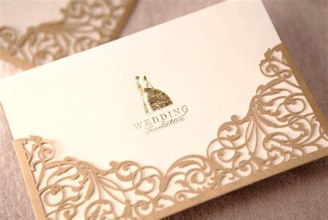 laser cut wedding invitation designs 50pcs design floral laser cut gold wedding invitation cards printable invitations with
