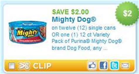 dog food coupons in the mail walmart mighty dog canned dog food 0 43 each