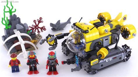 lego boat deep sea lego city deep sea submarine review set 60092