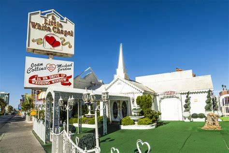 white wedding chapel shopping  downtown las