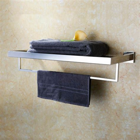 Bathroom Towel Shelves Slim Shelves Towel Rack With Shelf Chrome Bathroom Shelves For Towels