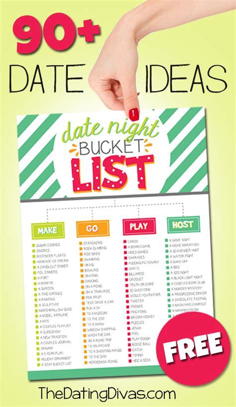 date ideas 90 date ideas printable date night bucket list pushup24
