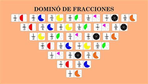 imagenes matematicas de fracciones juego de fracciones domin 243 de fracciones