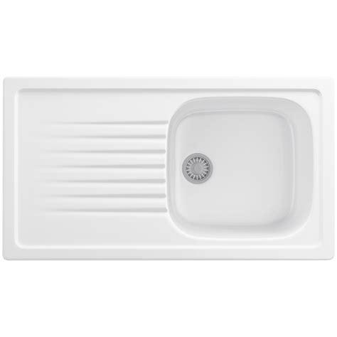White Ceramic Kitchen Sink Franke Elba Propack Elk 611 Ceramic White Kitchen Inset Sink And Tap 124 0184 408