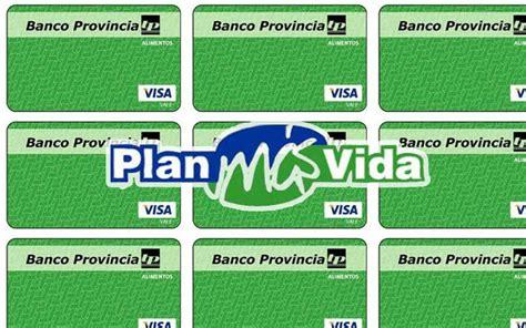 plan mas vida tarjeta plan mas vida plan mas vida la visa vale del plan mas vida es para toda argentina