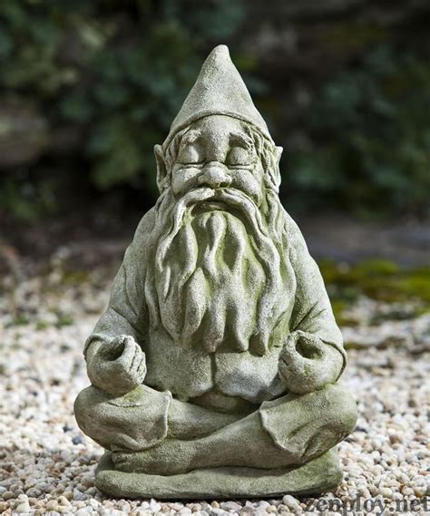 Garden Gnome Statues by Meditating Garden Gnome Statue Pretty Things