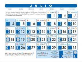 Calendario 2018 Julio Calendario Lunar Julio De 2016
