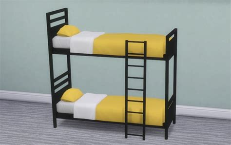 4 bunk beds veranka dorm and contrast bunk bed frames sims 4 downloads
