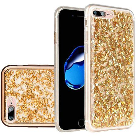 for apple iphone 8 plus iphone 7 plus frozen glitter with electroplated chrome bumper edges