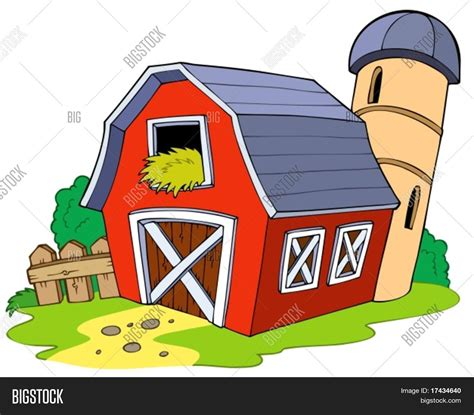 scheune clipart barn vector illustration stock vector