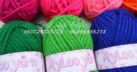 Import Headband Rajut Wool pita shop ellycia benang rajut myloo yarn 50gr