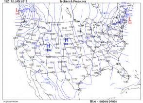 barometric pressure map america isobars pressures