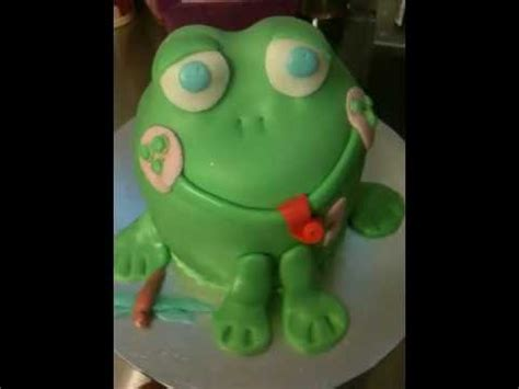 How To Make A 3d Frog Out Of Paper - 3d baby frog cake