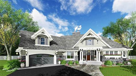 exciting craftsman house plan 14651rk architectural