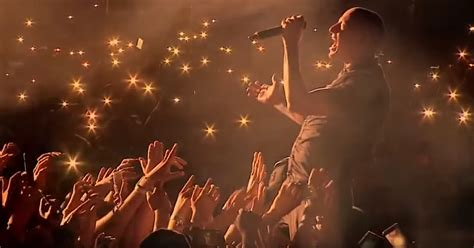 More Light by Chester While Singing One More Light At Linkinpark