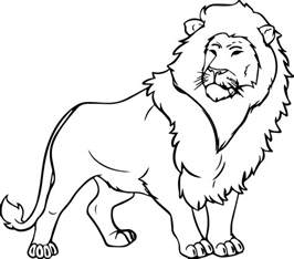 lions colors coloring pages wecoloringpage