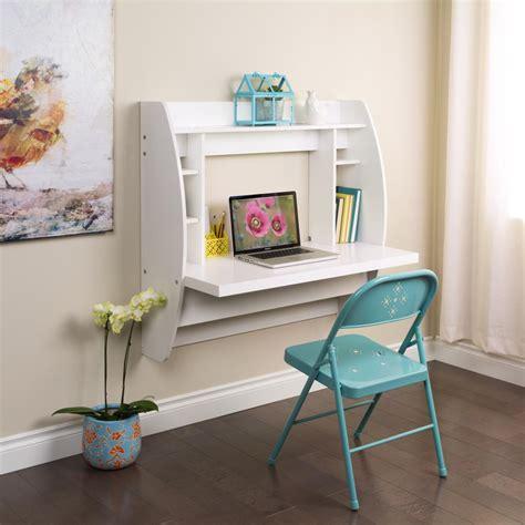 White Floating Desk With Storage White Floating Desk With Storage