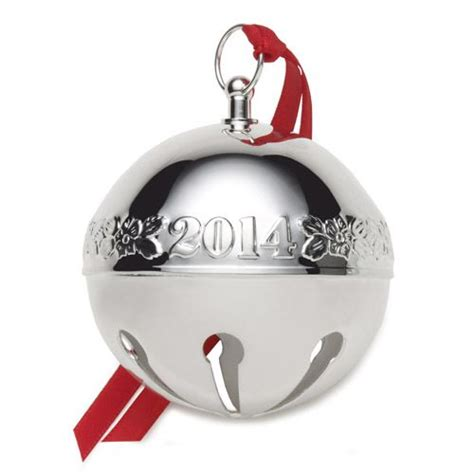 2015 wallace sleigh bell silverplate ornament can be