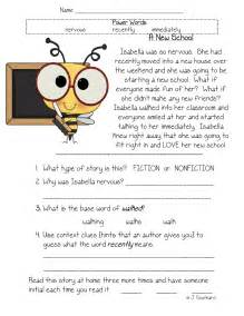 fluency comprehension amp vocabulary packets fun in
