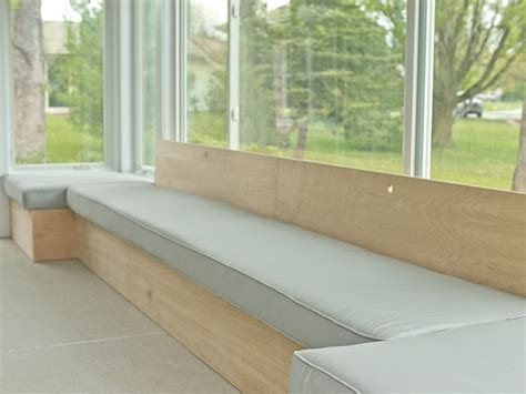 how to build bench seating how to build custom modern bench seating on hgtv com
