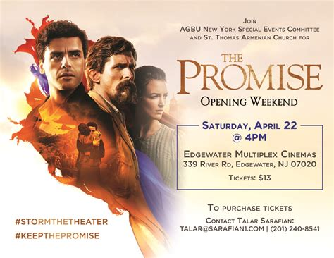 the promise the promise movie opening weekend st thomas armenian apostolic church