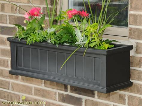 plastic window flower boxes vinyl window boxes vinyl flower boxes planter box designs
