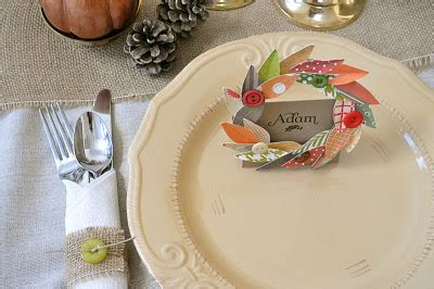 indian and pilgrim photo place cards and napkin ring template fall wreath thanksgiving placecard and napkin ring