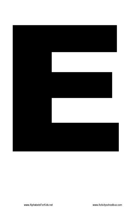 printable letters large large letter printable e http alphabetsforkids net 221