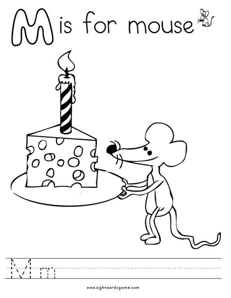 M Word Coloring Pages by Alphabet Coloring Pages