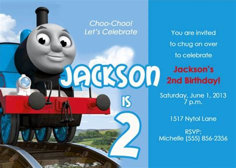 the tank engine template the tank engine invitations