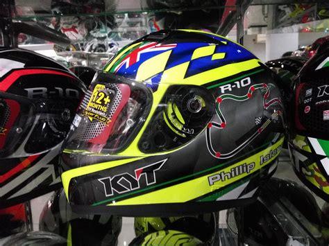 Kyt R 10 Fluo By Azka Helmet new kyt r 10 flat visor helm 500 ribuan sudah pakai