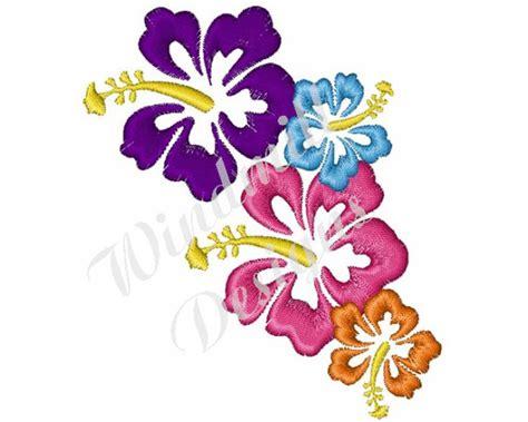 fiori hawaiani disegni fiori hawaiani disegno di ricamo di macchina