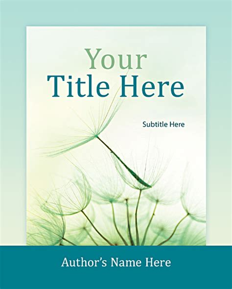 custom book cover design template for 7 375 x 9 25 from
