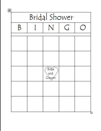 bingo template pdf free printable bridal bingo template bridal shower bingo