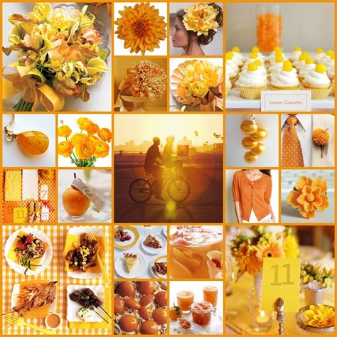 orange color theme keen to be seen citrus punch backyard bbq wedding theme