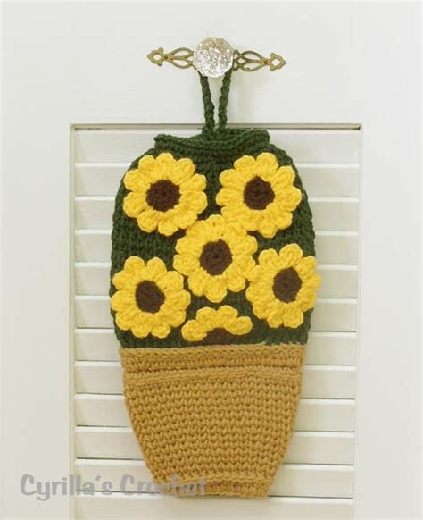 crochet pattern plastic bag holder free images to sew bag holders for kitchen crochet