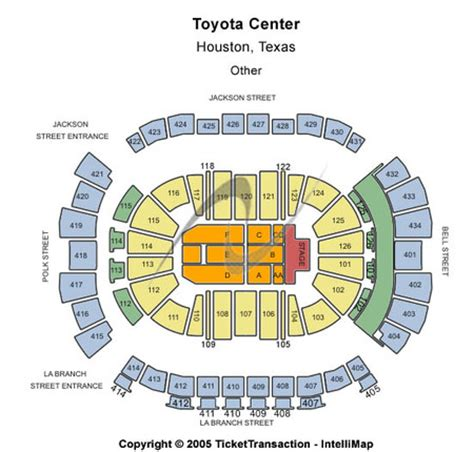 Toyota Center Detailed Seating Chart Toyota Center Tickets Toyota Center In Houston Tx At