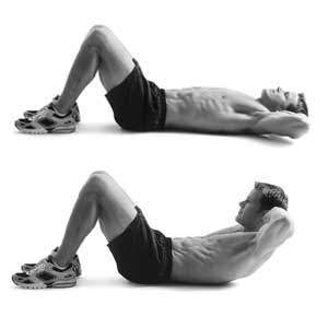 crunches the go to ab exercise popworkouts