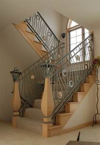 Metal Banisters And Railings Modern Homes Iron Stairs Railing Designs