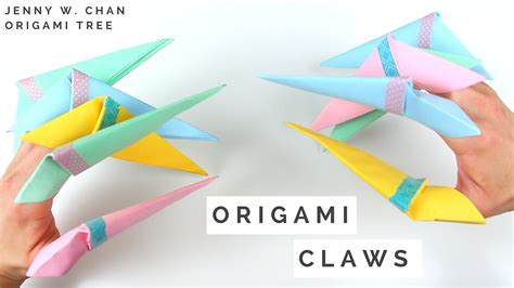 Origami Paper Claw - origami claws 187 origamitree