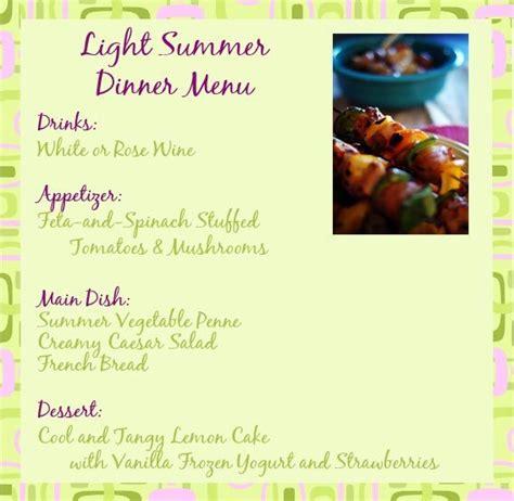 summer dinner menu ina garten light summer dinner recipes and ideas for a summer dinner