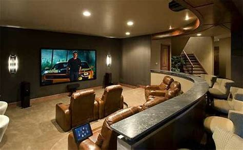 man cave theatre room bar seating    living