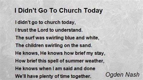 welcome poem for church