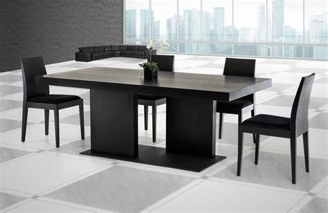 Modern Oak Dining Table Modrest Cobalt Modern Black Oak Dining Table